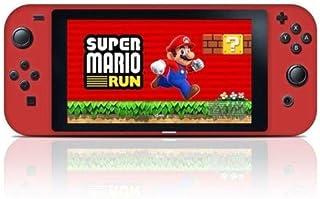 OSTENT Capa protetora de silicone antiderrapante para controle de console Nintendo Switch, cor vermelha