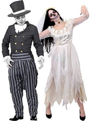 I LOVE FANCY DRESS LTD Conjunto DE Disfraces para Parejas DE Novios Muertos Conjunto Vestido DE Mujer(S) Y Traje para Hombre (XXL)