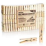 com-four® 120x mollette in Legno - mollette in Legno sostenibili in Legno di Betulla - mollette in Legno Non trattato per Appendere Abiti e Oggetti di Artigianato (120 Pezzi - Betulla)