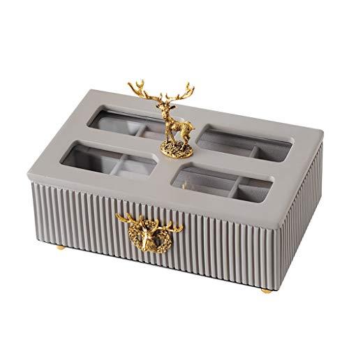 ZYS joyero Cajas para Joyería para Mujer Decoración del hogar Organizador de joyería para Pendiente Brazalete Pulsera Collar y Anillos Joyero de Almacenamiento Caja de Almacenamiento de Joyas