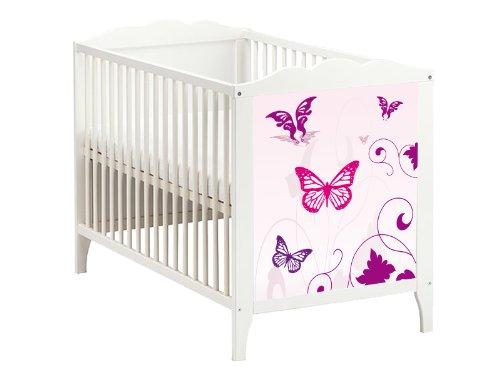 STIKKIPIX Butterfly Möbelsticker/Aufkleber für das Babybett Hensvik von IKEA - BB07 - Möbel Nicht Inklusive