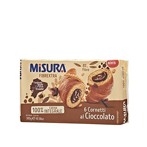 Misura Cornetti Fibrextra Cioccolato | 100% Farina Integrale | Confezione da 300 grammi