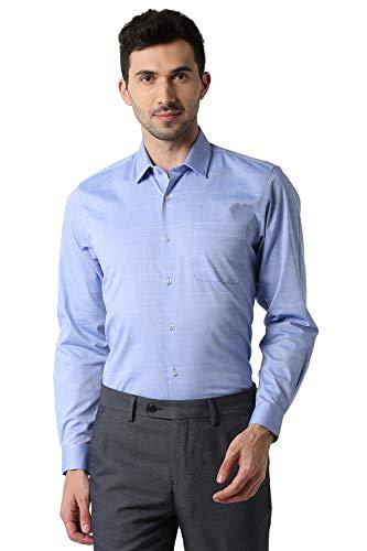 Peter England Men's Solid Regular fit Formal Shirt (PESFMNUFC59268_Light Blue 40)