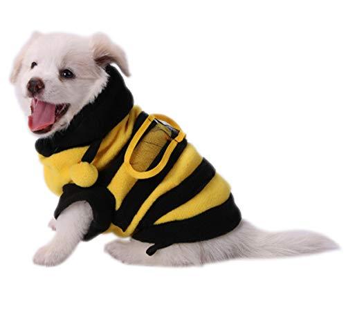 Ranvi Disfraz de Abeja para Perros, Lindas Sudaderas con Capucha para Mascotas, Ropa para Cachorros, Gato, abejorro para Perros pequeños y medianos(XXL)