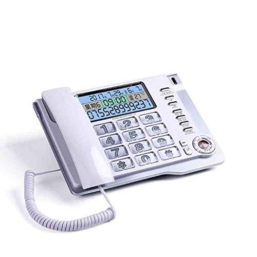 GAOLE Teléfono Fijo, teléfono Fijo, teléfono con Cable for Personas Mayores, botón Grande y teléfonos amplificados (Color : White)