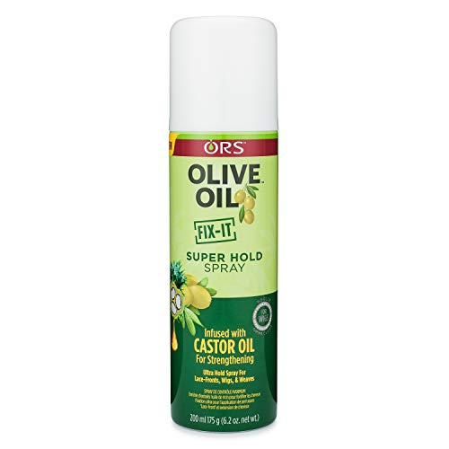 ORS Olive Oil FIX-IT Super Hold Spray 7 Ounce (Pack of 4)