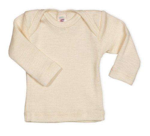 Engel GmbH - Engel 100% sobre-para el cuello lana de merino orgánica de costura para chalecos de long-con cierre de solapa undyed (ecru), 6-12 months - eu 74/80