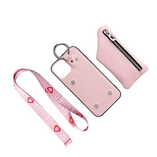 UKCOCO Funda para Teléfono Móvil con Cordón Compatible para Iphone12pro (Rosa)