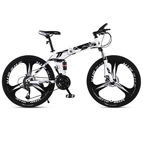 Mountain Bike bicicletta MTB Sportiva da Montagna Mountain bike, pieghevole hard-coda Biciclette Montagna, acciaio al carbonio telaio, sospensione doppia e doppio disco freno, 26inch Ruote Mountain Bi