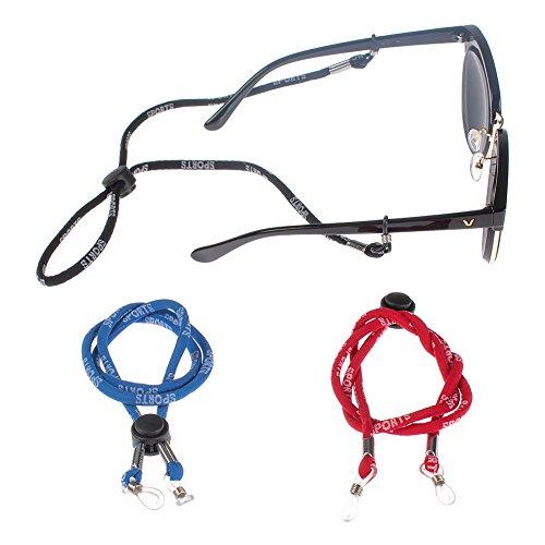 Soleebee 3 Stück Universal Sport Brillen Ketten Brillenband/Brillenkette/Brillen Cord/Sonnenbrille kette Hals Lanyard/Brillenhalter Hals Cord Strap