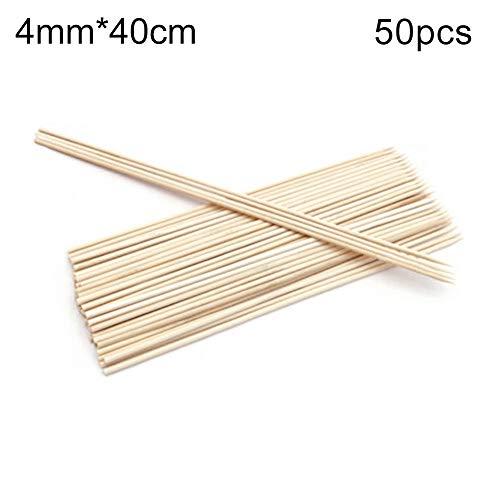41S1FuD3rFL - hearsbeauty 50 / 100Pcs Tragbare Einweggrill BBQ Bambusspieße Fleisch Essen Fleischbällchen Holzstäbchen 2,5 mm * 25 cm