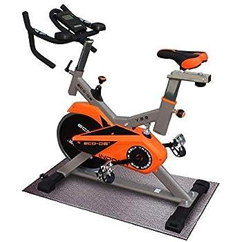 ECO-DE Bicicleta Spinning Indoor. Sistema de amortiguación V.S.S. Uso semiprofesional con pulsómetro, Pantalla LCD y Resistencia Variable. Manillar Doble. Volante de inercia 25 Kgrs ECO-828: Amazon.es: Deportes y aire libre