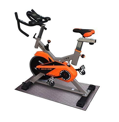 ECO-DE INDOOR bicicletta da spinning. Uso semiprofessionale con Cardiofrequenzimetro, Schermo LCD e resistenza Variabile. Stabilizzatori. Cyclette Completamente Regolabile, Spin bike.