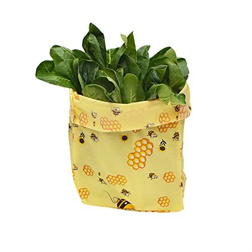 Bolsa de embalaje de alimentos reutilizables respetuosos con el medio ambiente, almacenamiento de conservación de alimentos, envases de conservación orgánica, envases de refrigerios