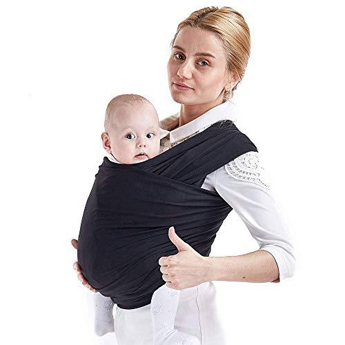 MAMACADABRA Fascia neonato in cotone - Fascia porta bambino Baby Wrap per neonati e bambini fino ai 2 anni - Fascia porta bebe per avere il tuo bambino vicino al cuore (BLU)