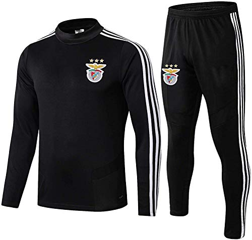 N/A Offizielle Fußball-Geschenk-Wettbewerb Anzug Benfica Mens Top + Pants Benfica Tracksuits Football Wear Verein Uniform Langarm-Trainingsanzug (Size : XXL)