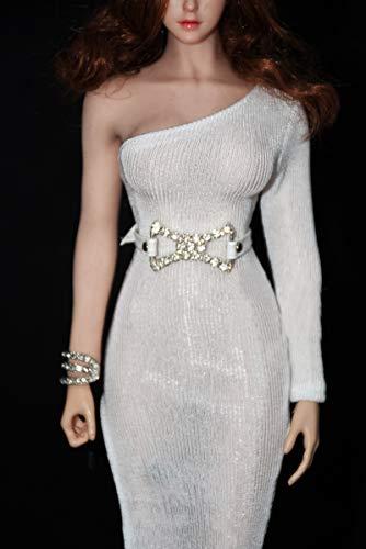 ZSMD 1/6 TBLeague phicen Dress, See-Through Dress, Dress,White Skirt Suit b