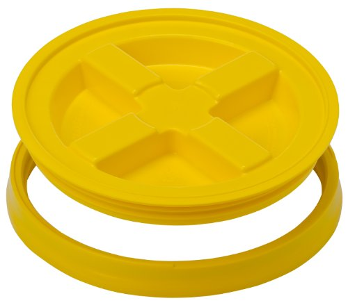 Read About Gamma Seals Airtight & Leakproof Lid for 3.5 to 7 Gallon Buckets, Yellow (4121)