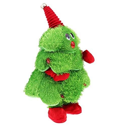 Tubayia Singender Tanzender Plüsch Weihnachtsbaum Interaktives Spielzeug Weihnachten Geschenk für Kinder