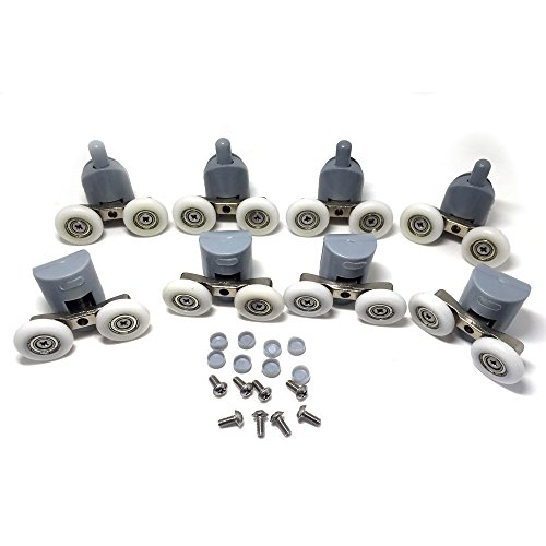 CY-903AB Doppelrollen unten und oben für Duschschiebetüren, Ersatzteile, 25mm Durchmesser, 8Stück