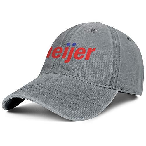 Unisex Mens Denim Baseball Hat Casual Adjustable Mesh Sun Meijer-Logo-for-Newsroom-Flat Cap