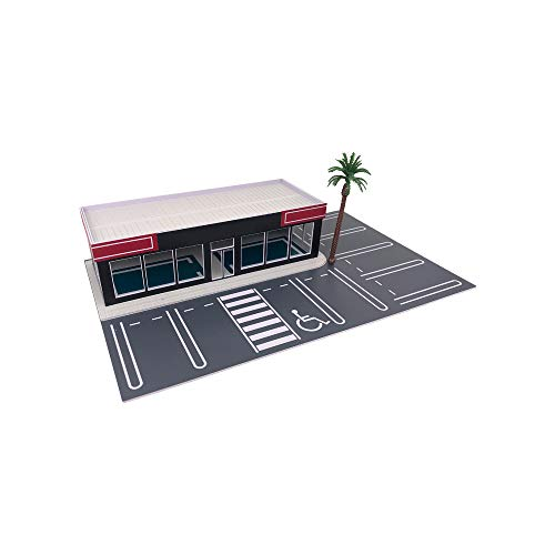 Outland Models Scenery for Model Cars Car Dealership/Car Display Showroom 1:64 S Scale