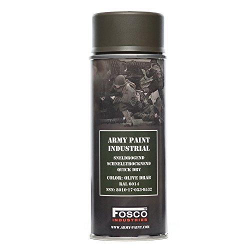 Spraydose Fosco Tarnfarbe, 400ml Olive Drab, braun / grün, Aerosol, Grafiti Tag Dekoration Kennzeichnung Custom-Softair 469312Olive Drab