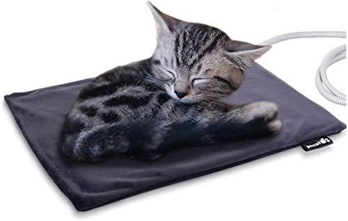 Pecute Haustier Heizkissen Heizmatte für Hund Katze Wärmematte Konstante Temperatur Sicher und wasserdicht Heizdecke Stoffbezug S(40 * 32cm)