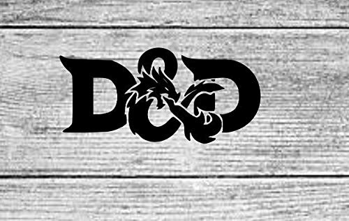 MAF - Dungeons and Dragons Logo Decal Black - Video Game Sticker for Cars, Trucks, Walls, Laptop