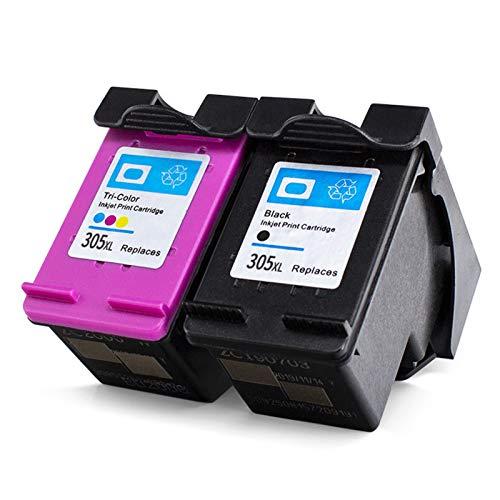 Cartucho de tinta remanufacturado 305xl, reemplazo negro y color para HP 305XL para usar con HP DeskJet 2710 2720 4110 4120 4130 6010 6020 impresora Black+color
