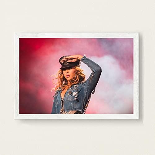 Beyonce Super Muziek Zanger Ster Zanger Nieuwe Canvas Poster Prints Foto Portret Foto Bar Hotel Cafe Wall Art Decor Muurschildering 50x70 cm (19.68x27.55 in) A-3105