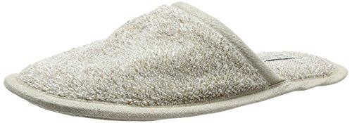 Linen & Cotton Luxus Natur Herren Damen Erwachsene Gäste Super Weich, Leicht, Hausschuhe/Pantoffeln/Gästehausschuhe/Slippers ALBA 60% Leinen, 40% Baumwolle - Eur 45-46 (Beige/Natur)