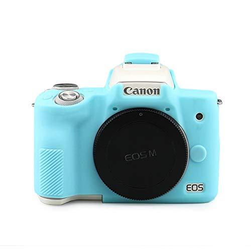 kinokoo Silikon-Schutzhülle für Canon EOS M50 Kamera Ptotective Rubber Case Canon EOS M50 Mark II Silikonhülle (Blau)