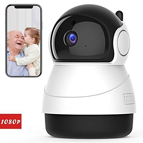 TGhosts Cámara Interior inalámbrica de la cámara IP de 1080P FHD WiFi con la detección de Movimiento de la visión Nocturna Cámara Audio residencial de la vigilancia de la Seguridad de 2 Maneras Pan /