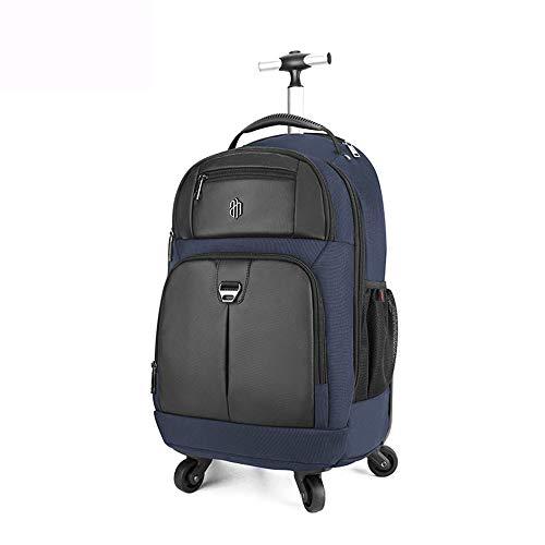 FGKING Rollende Rucksack für Kinder Erwachsene, 20-Zoll-Trolley Rucksack mit Rollen auf Rädern Schultasche für Kinder Ratgeber Reise Laptop Bücher Tasche Multifunktionsgepäck,b