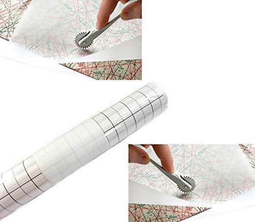 Seidenpapier mit Raster 80cm breit, 15m Rolle -Exklusiv nur bei TOKO-Kurzwaren-