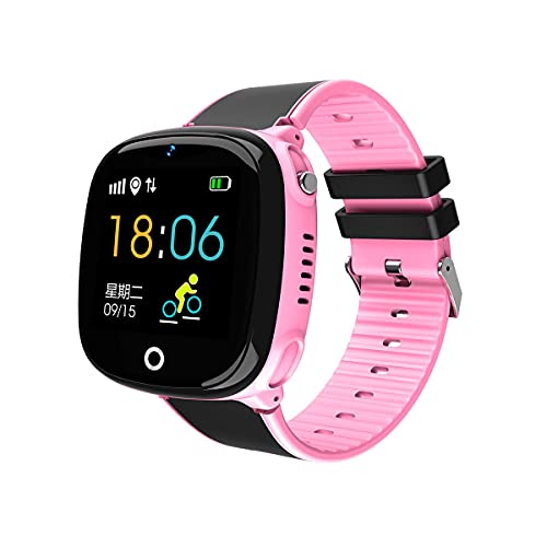 Kids Smart Watch for Boys Girls - Kids Smartwatch with GPS Tracker Waterproof Phone Touch Screen with SOS Alarm Clock Music Player Camera Game Boys Girls for 4-12 Christmas Birthday Gift (Pink)
