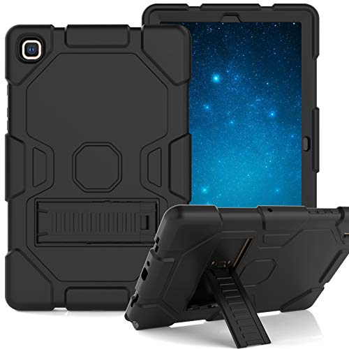 Grifobes Case for Samsung Galaxy Tab A7 10.4' 2020, Slim Heavy Duty Shockproof Rugged Case with Stand Hard PC+Silicone Hybrid High Impact Full Body Protective Case for Kids (Black)