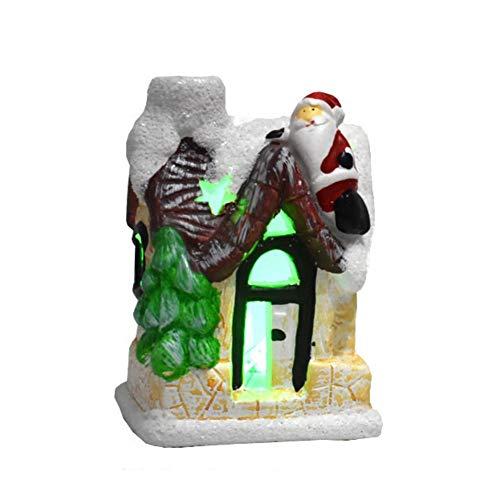 Yamer Mini Resin Fairy Garden Houses - Escena navideña Casas urbanas Ciudad...