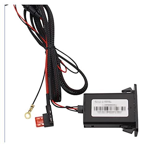 FENGFENG Sun Can Adaptador QC3.0 QC3.0 de 12V Dual USB QC3.0 para Seat Leon Ibiza Fit para VW Golf Passat Fit para Jetta Passat Beetle Sharan (Color Name : Black)