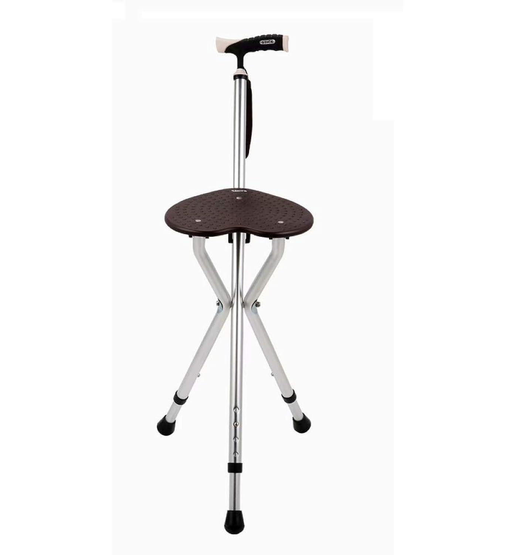 HUYYA 松葉杖シート、アルミ合金3フィート滑り止め調節可能な高さ持ち運びに便利な折りたたみ式杖