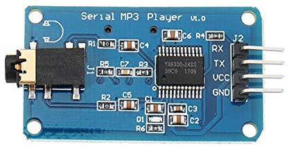 ICQUANZX YX6300 UART TTL Controllo seriale Modulo lettore musicale MP3 Supporto SD/SDHC Card per Arduino/AVR/ARM/PIC 3.2-5.2V