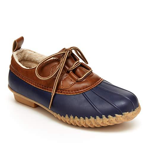 JBU by Jambu Women's Glenda Waterproof Rain Shoe, Navy, 7.5