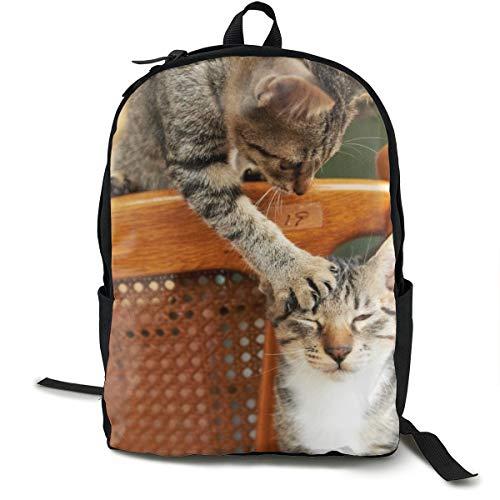 Unisex Klassischer Katzenpärchen-Rucksack, für Reisen, Camping, Outdoor, Laptop, Tagesrucksack