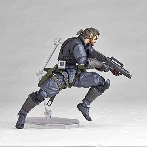 POIUYT PVC-Tätigkeits-Abbildung MGS-Legierung Ausrüstung Phantomschmerz Schlangengift Joint Movable Charakter Modell Spielzeug