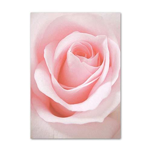 yhyxll Rosa Rose Pfingstrose Chrysantheme Kaktus Wandkunst Leinwand Malerei Nordic Poster Und Drucke Wandbilder Für Wohnzimmer Ungerahmt B 30X40cm