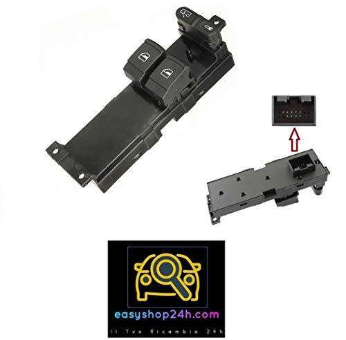 Botón elevalunas para VW Golf 4 Bora Passat Leon Toledo Interruptor teclado 2 cristales eléctricos