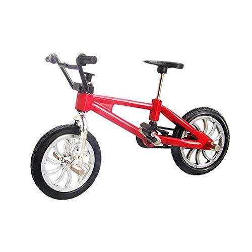 BOVER BEAUTY 1 Pc Finger Mountain Bike Funcional Minuete Mountain Sport Bike Tech Deck Miniature Metal Game para Niños Niños (Rojo)