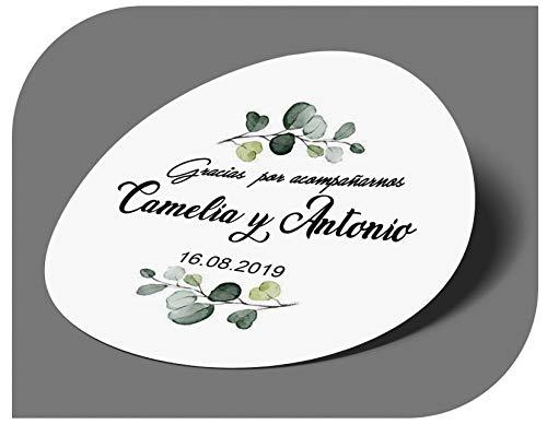 CrisPhy - Adesivi personalizzati per matrimonio, con nome e data, etichette adesive per inviti, matrimoni, battesimi, fidanzamenti, compleanni, feste, Natale, vintage, timbri