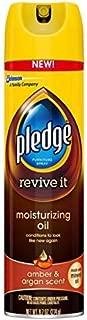 Pledge Moisturizing Oil Furniture Spray, Amber & Argan Scent 9.70 oz (Pack of 3)